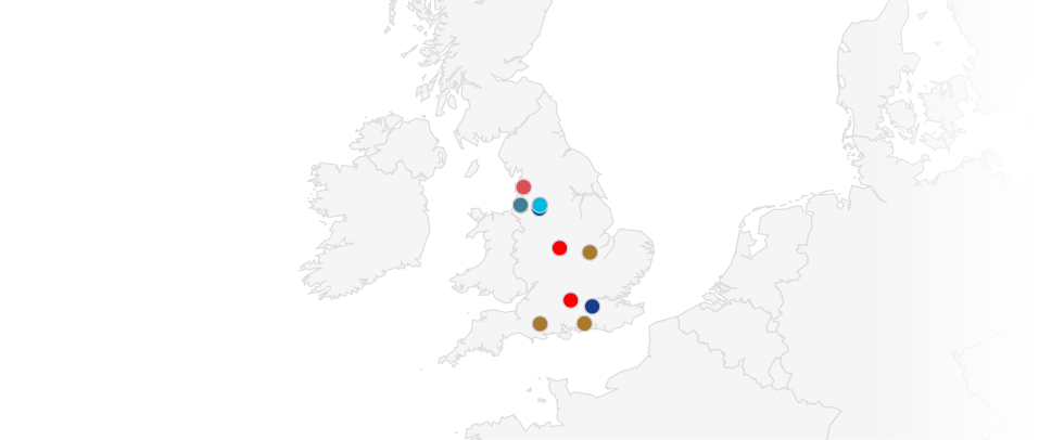 Map Of England Epl Teams.England Summer Football Soccer Camps Soccer Schools Training