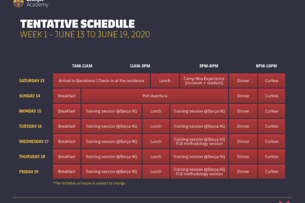 Barca_Academy_Clinic_Week_One_2020_Tentative_Daily_Schedule_Subject_to_Change