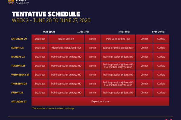Barca_Academy_Clinic_Week_Two_2020_Tentative_Daily_Schedule_Subject_to_Change